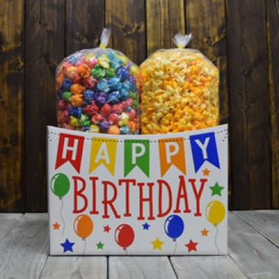 Birthday Banner Popcorn Gift Box
