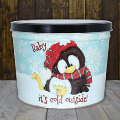 Baby Its Cold Gourmet Popcorn Tin