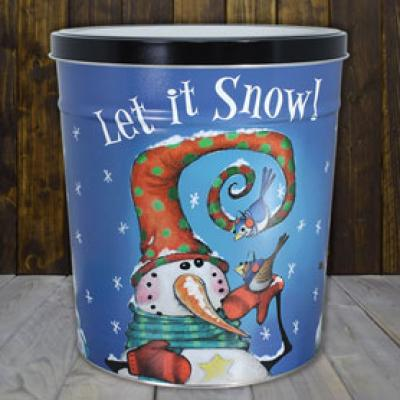 Frosty Friends 3.5 Gallon Popcorn Tin