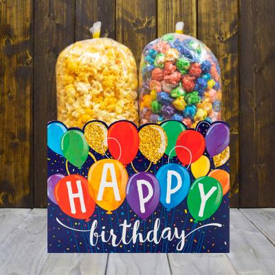 Happy Birthday Balloons Popcorn Gift Box